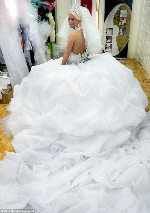 Gypsy wedding gown...on some the skirt weighs so much the bride ends ...