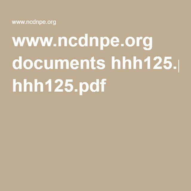 ncdnpe www.ncdnpe.org documents hhh125.pdf | Homeschool | Pinterest ...