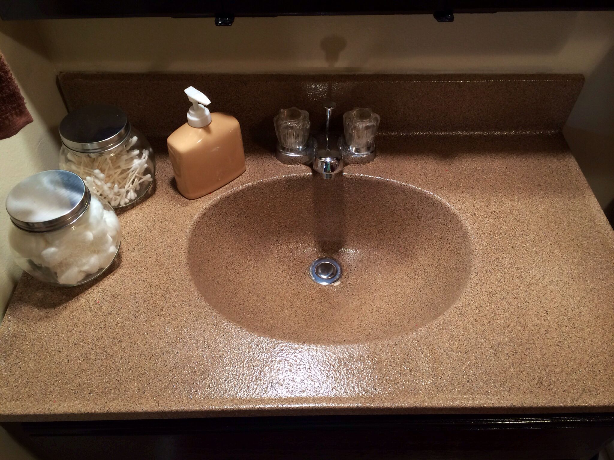 painting bathroom countertops and sink after picture of the spray painted sink and countertop i 23934