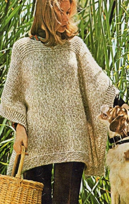 Ladies Poncho Easy And Quick Knitting Pattern By Krohshayandsuch