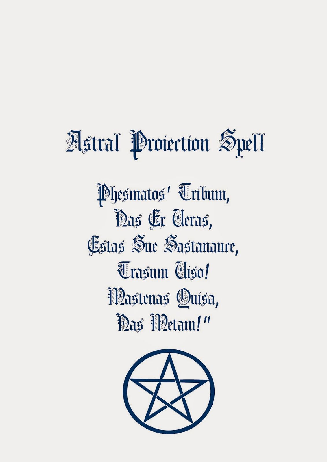 Book Of Shadows Pages: Astral Projection Spell | My Witchy Ways! <3
