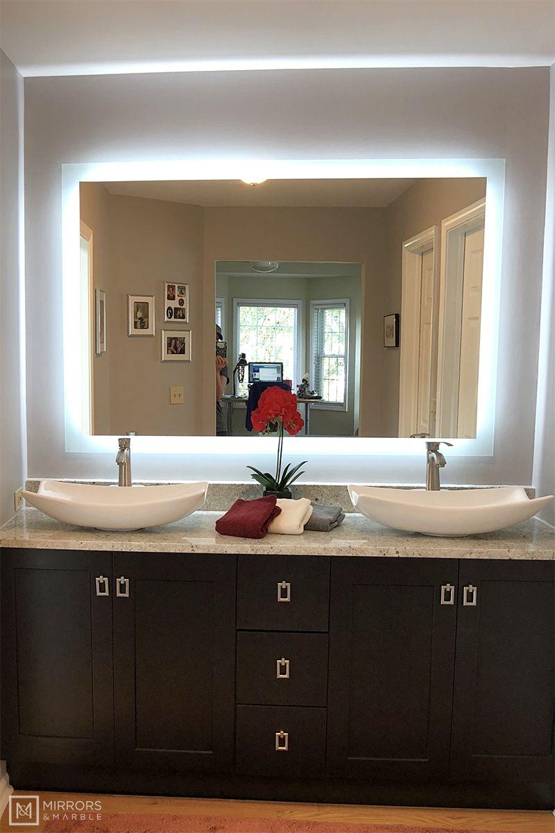Side Lighted Led Bathroom Vanity Mirror 60 In 2021 Bathroom Vanity Mirror Led Bathroom Bathroom Decor