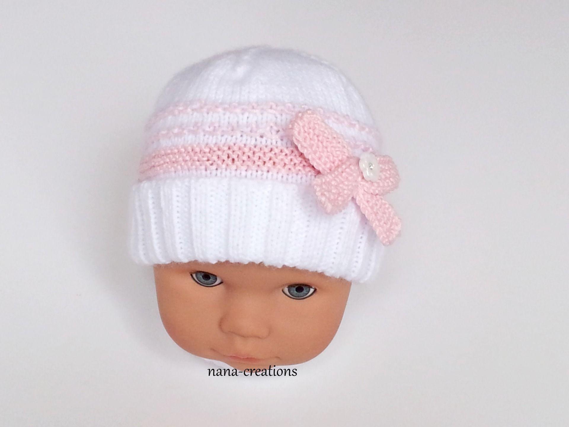 13ce03a43cac9 Bonnet naissance laine ou coton brassiere fille kiabi
