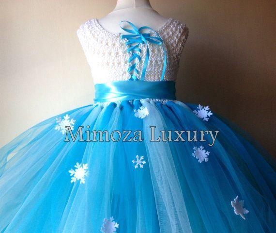 10d33086c3 SALE Elsa Dress Princess Flower girl dress Christmas tutu