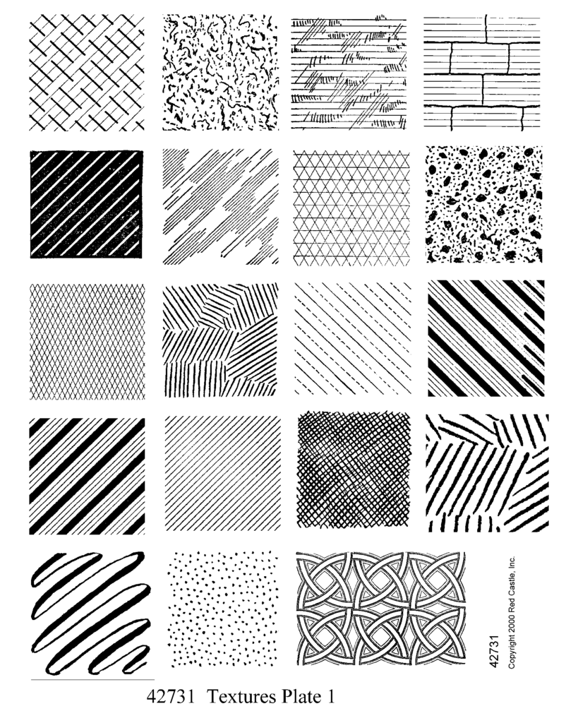 Red Castle – Textures Set 1 – Unmounted Full Sheet – Rubber Art Stamps