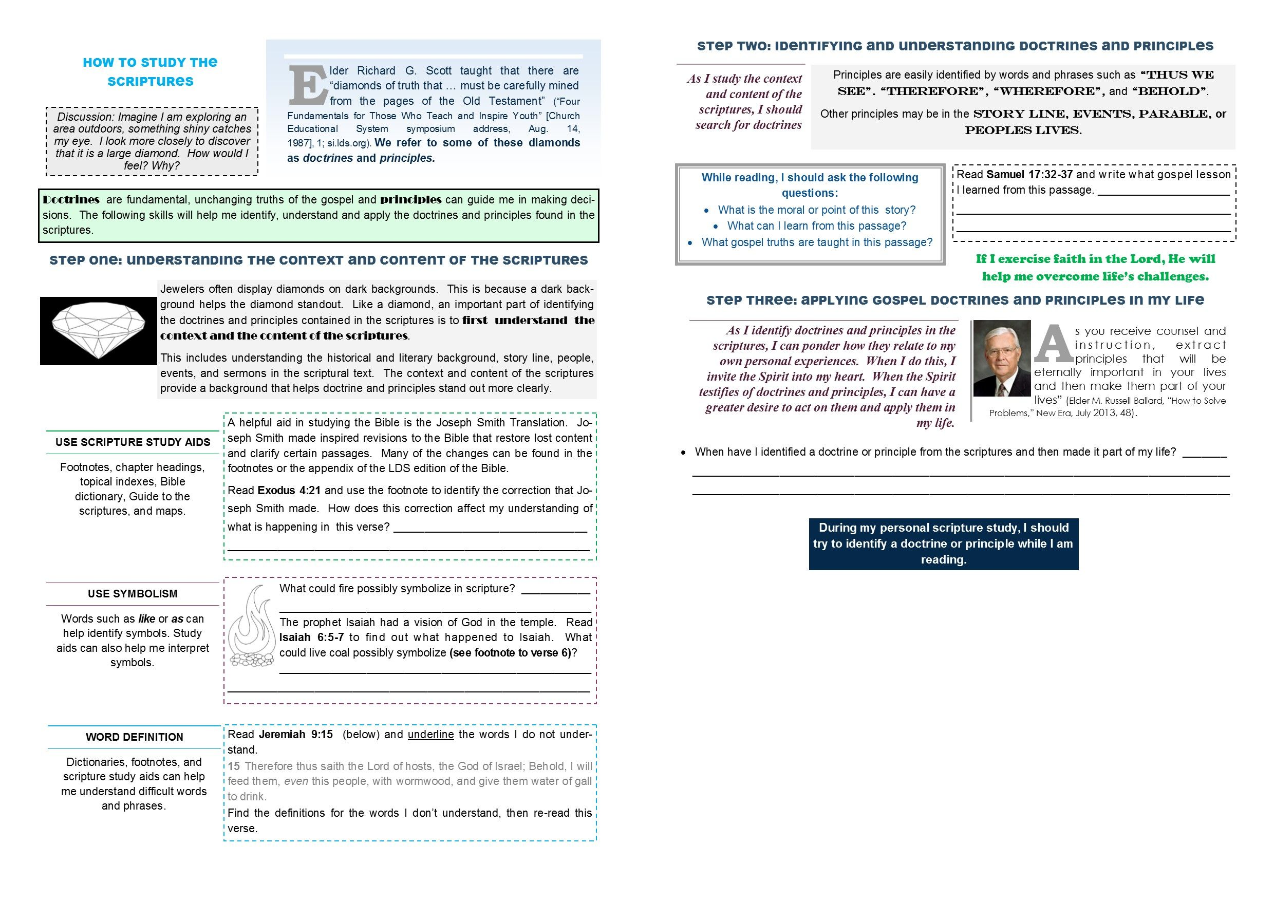 Old Testament Seminary Lesson 4 Worksheet Pages 2 3