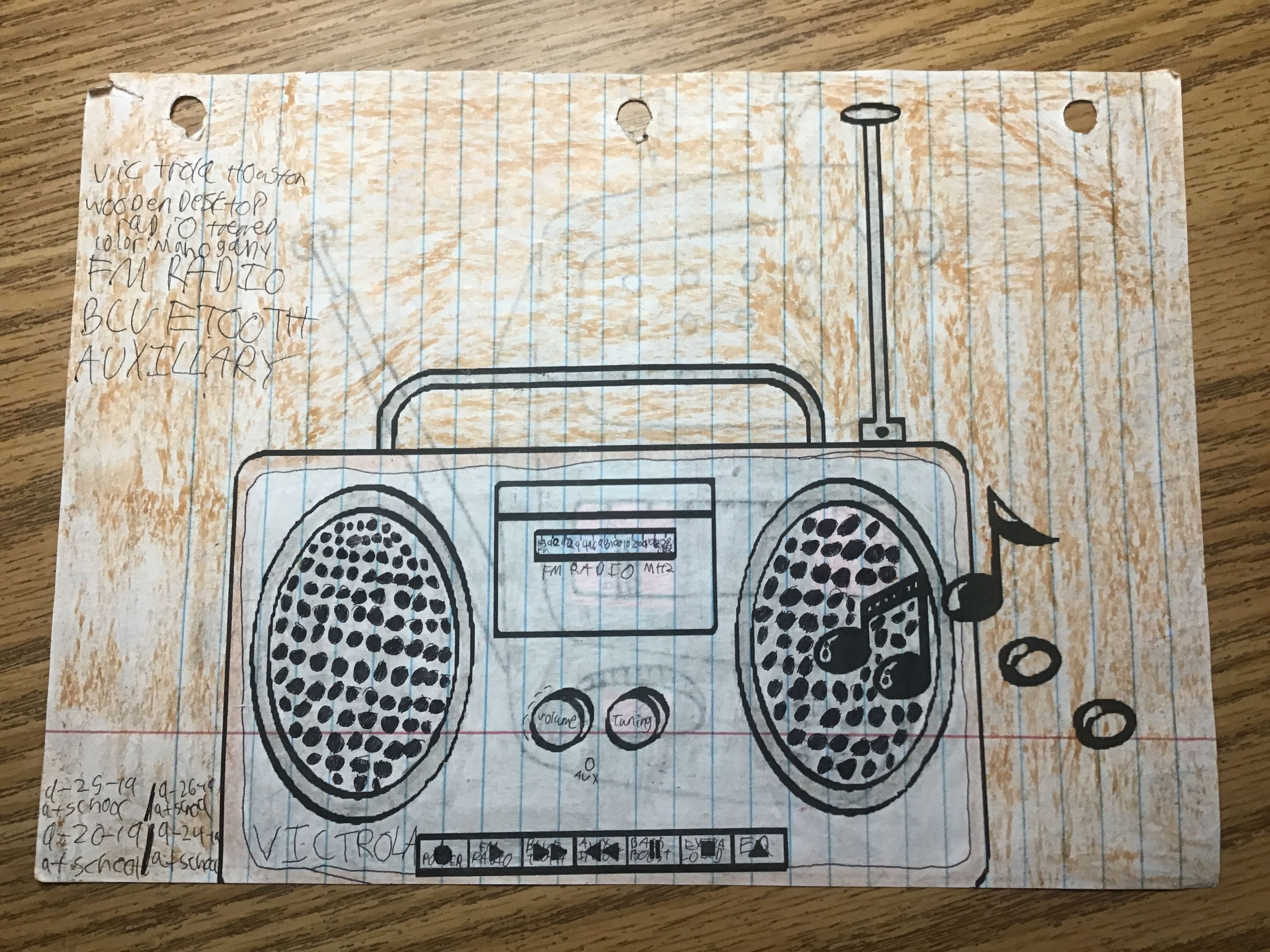 Victrola Houston Wooden Desktop Radio Themed Coloring Sheet 9 20 19 9 24 19 9 25 19 9 26 19 Wireless Streaming Fm Radio Bluetooth Radio