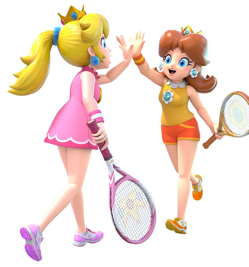 Peach Daisy From Mario Tennis Aces Illustration Artwork Gaming Videogames Characterdesign Peach Mario Mario Princess Daisy