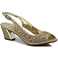7339950645b Enzo Romeo Lime01 Womens Open Toe Low Heel Wedding Rhinestone Wedge Sandal  Shoes