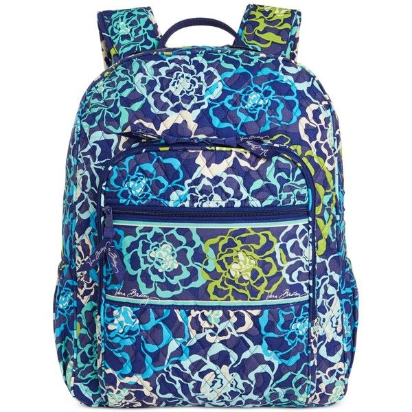 ba195a3fa Vera Bradley Campus Backpack ($109) ❤ liked on Polyvore featuring bags,  backpacks, katalina blue, print bags, paisley print backpacks, quilted  backpack, ...