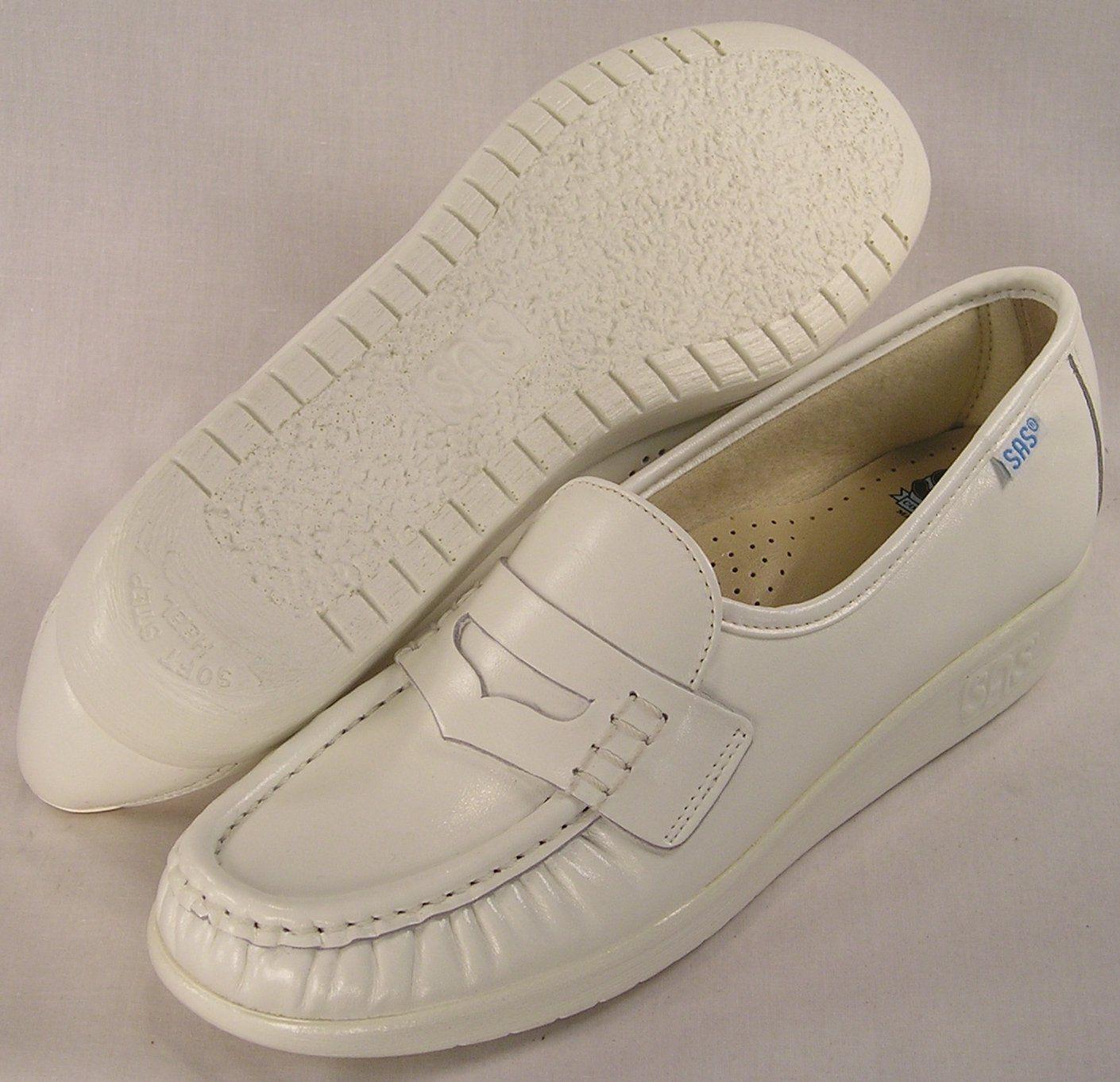 SAS Women's Classic White Nurses Duty Shoe