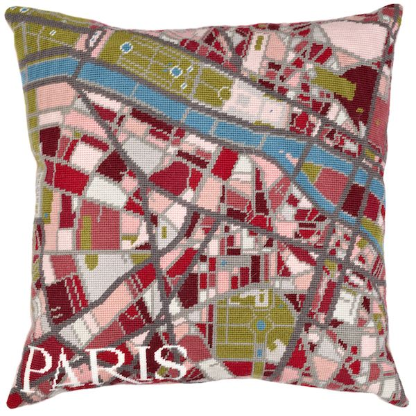 Map Paris Tapestry Portraits