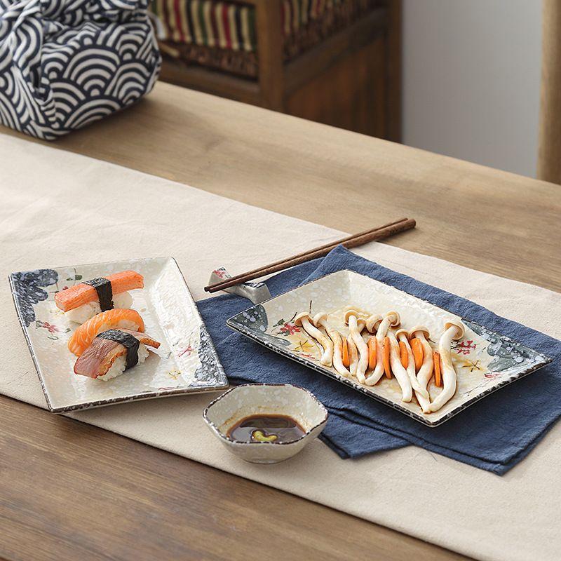 Promo 1 Piece New Style 10 Inch Underglaze Colour Ceramic Tableware/ Creative Rectangular Fish Plate/ Hand Painted Plum Ceramic Plate #Piece #Style #Inch #Underglaze #Colour #Ceramic #Tableware/ #Creative #Rectangular #Fish #Plate/ #Hand #Painted #Plum #Plate