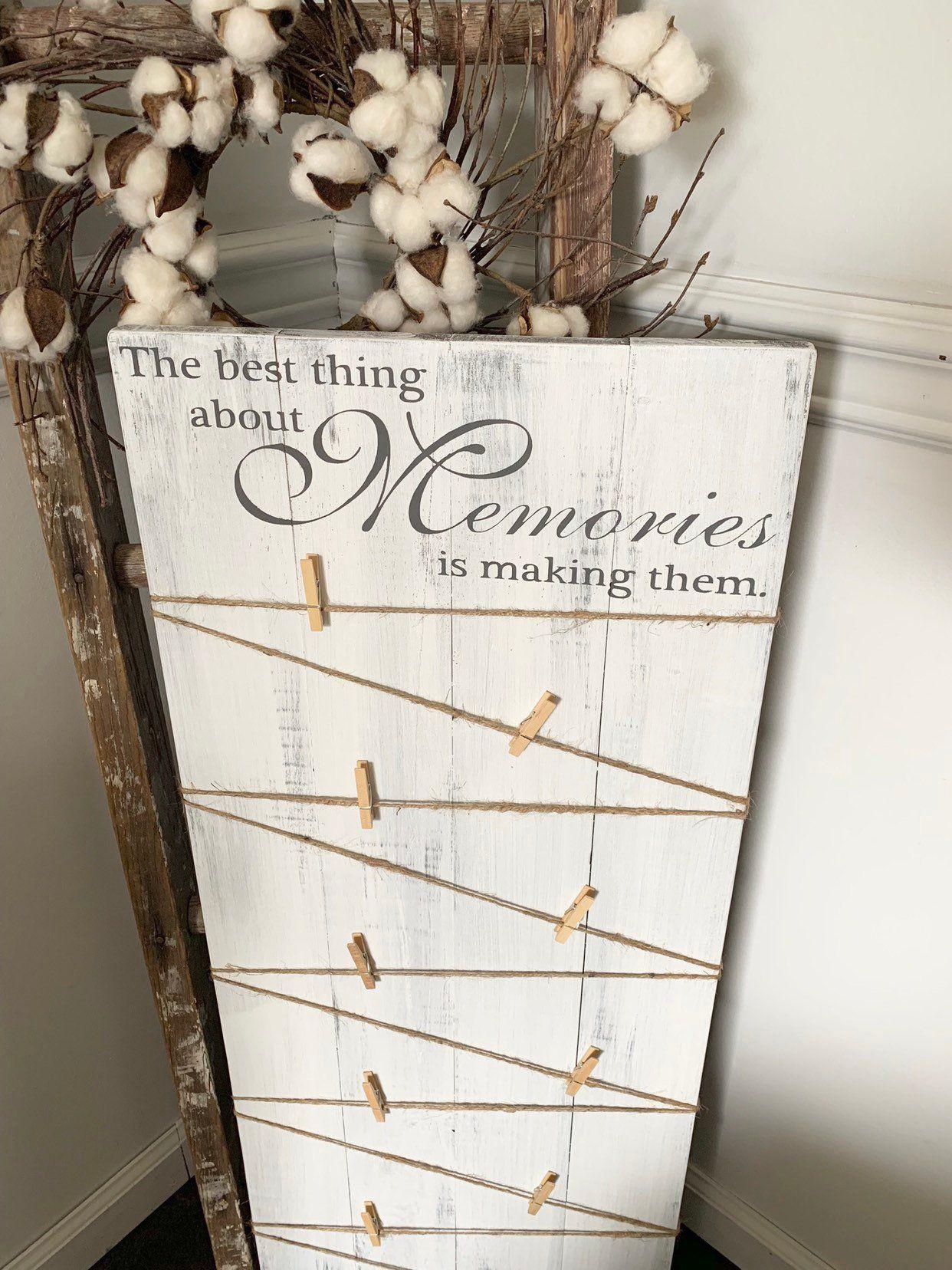 Photo Hanging Wall Art Making Memories Wood Photo Hanger Sign
