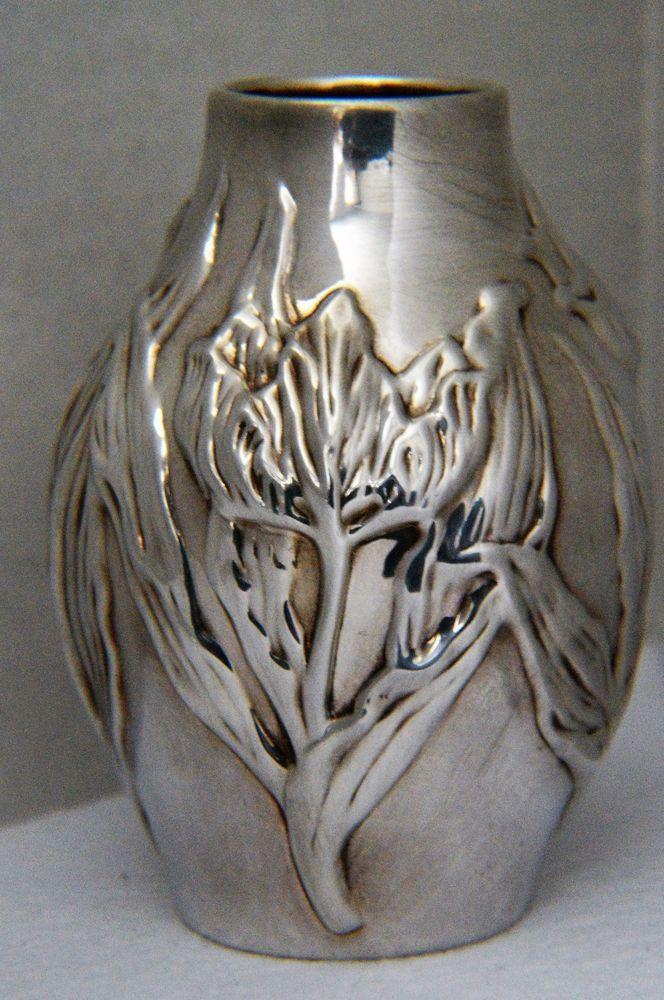 Auth Louis Comfort Tiffany Coerling Silver Tulip Vase 925