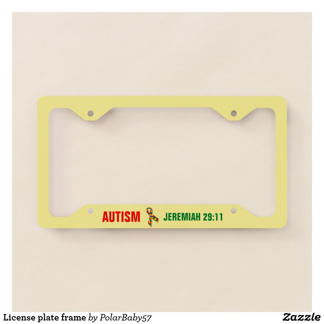 License plate frame   Autism Awareness Products   Pinterest   Autism ...