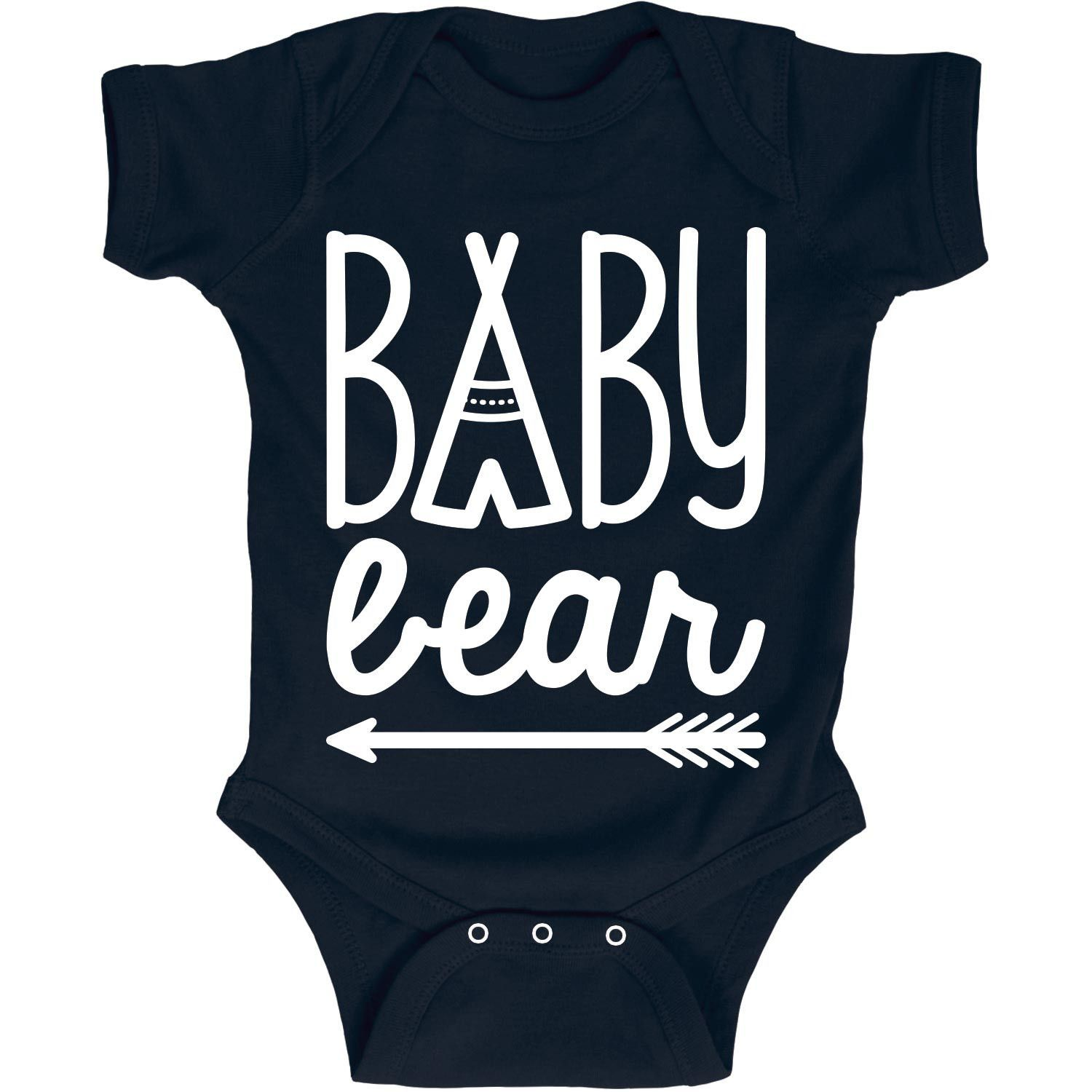 Baby Bear Teepee Matching Family Infant One Piece. Cute baby onesies and kids clothes for the family camping trip. All at Kidteez! Fun for the whole camping family!