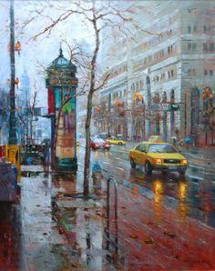 Po Lin Pin, 1970 ~ impresionista pintor del paisaje urbano