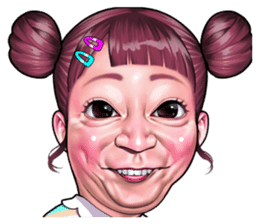 check out the funny face Collection sticker by niziuta on chatsticker.com