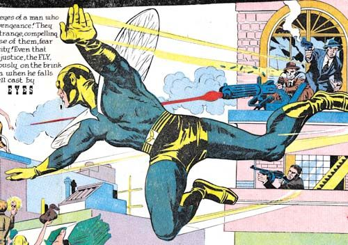 Panel from Adventure of the Fly #2 by Jack Kirby.