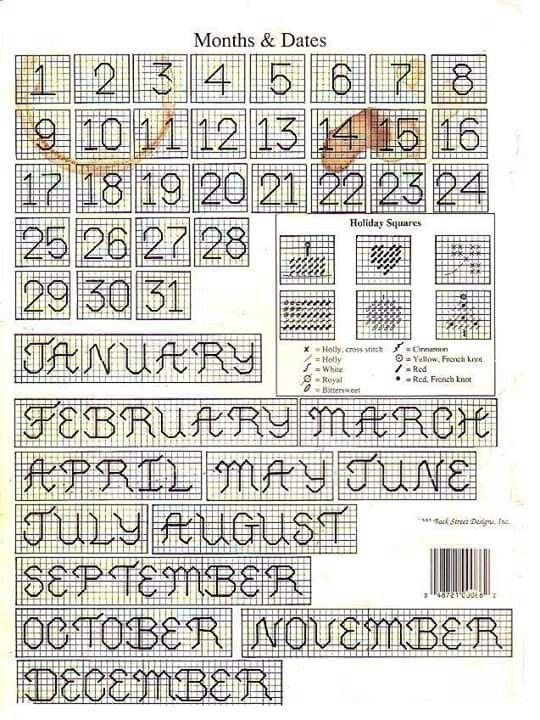 Changeable Perpetual Calendars Plastic Canvas Plastic Canvas
