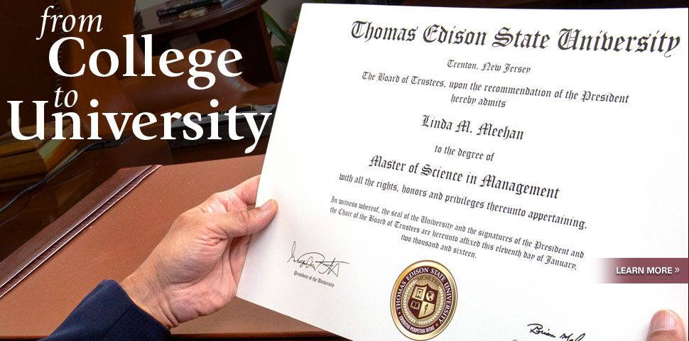 College Degrees for Adults at Thomas Edison State