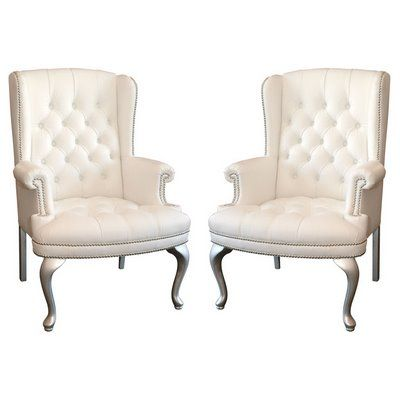 Best I Adore Wing Back Chairs And Would Like Two White Ones To 640 x 480