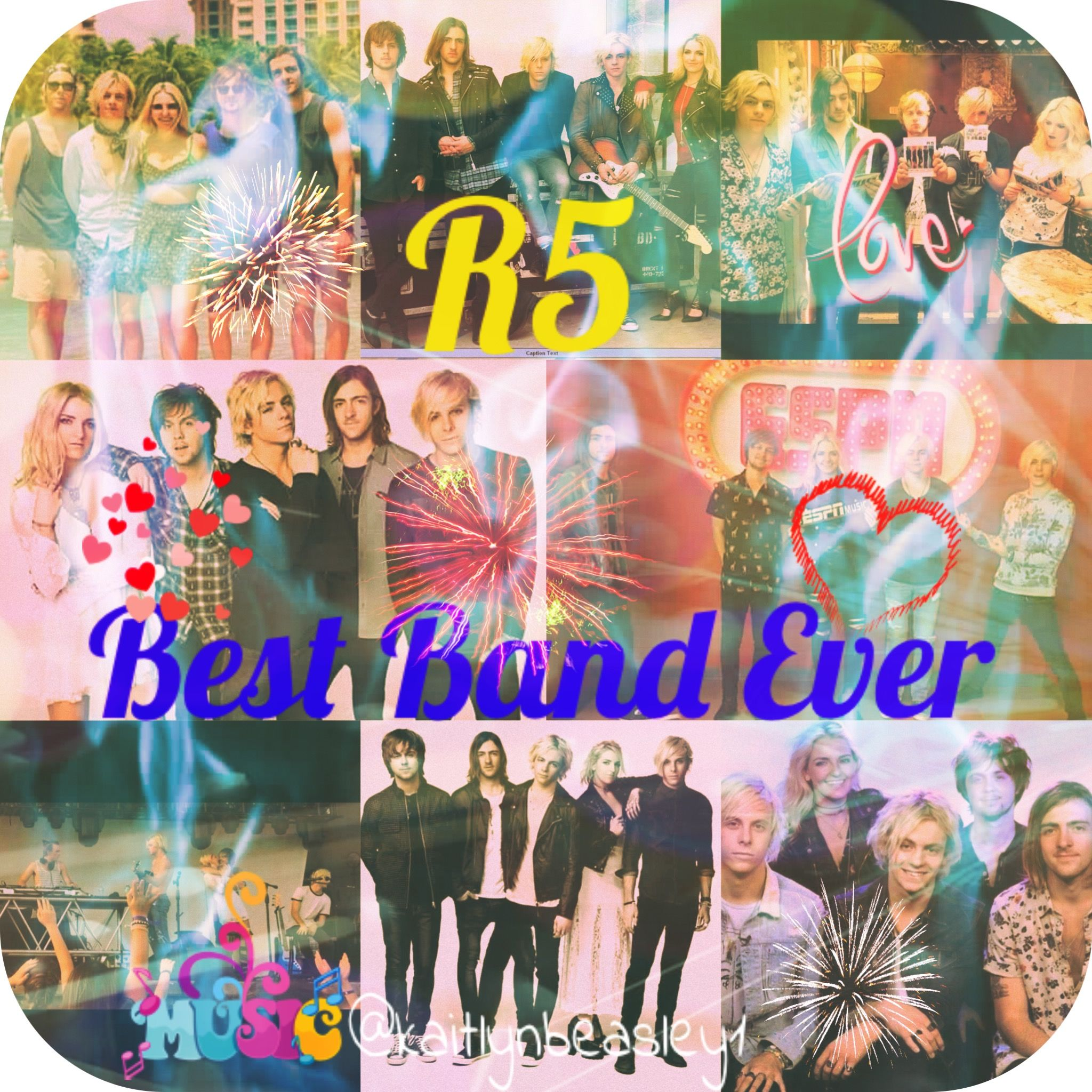 R5 Collage Made By Kaitlyn S Collages Kaitlynbeasley1 For Ellarich512 If You Want One Please Comment What You Want If Yo Cool Bands Collage Making My Love