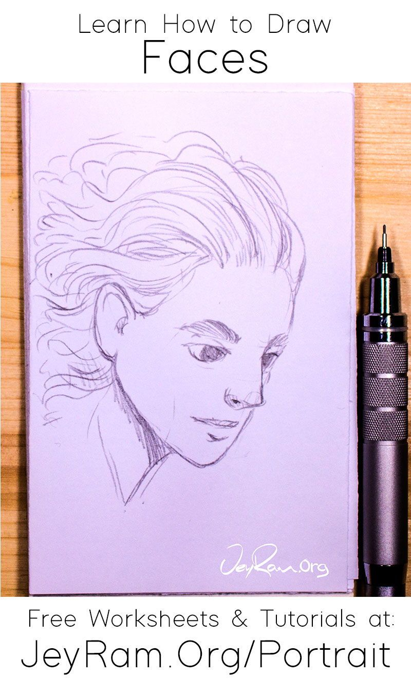Learn How To Draw Simple Faces Worksheets Tutorials In 2020 Learn To Draw Drawings Face Drawing