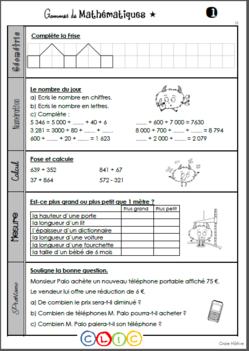 Les gammes de mathématiques - Période 1   Maths ce2, Mathématiques ce2 et Maths ce1