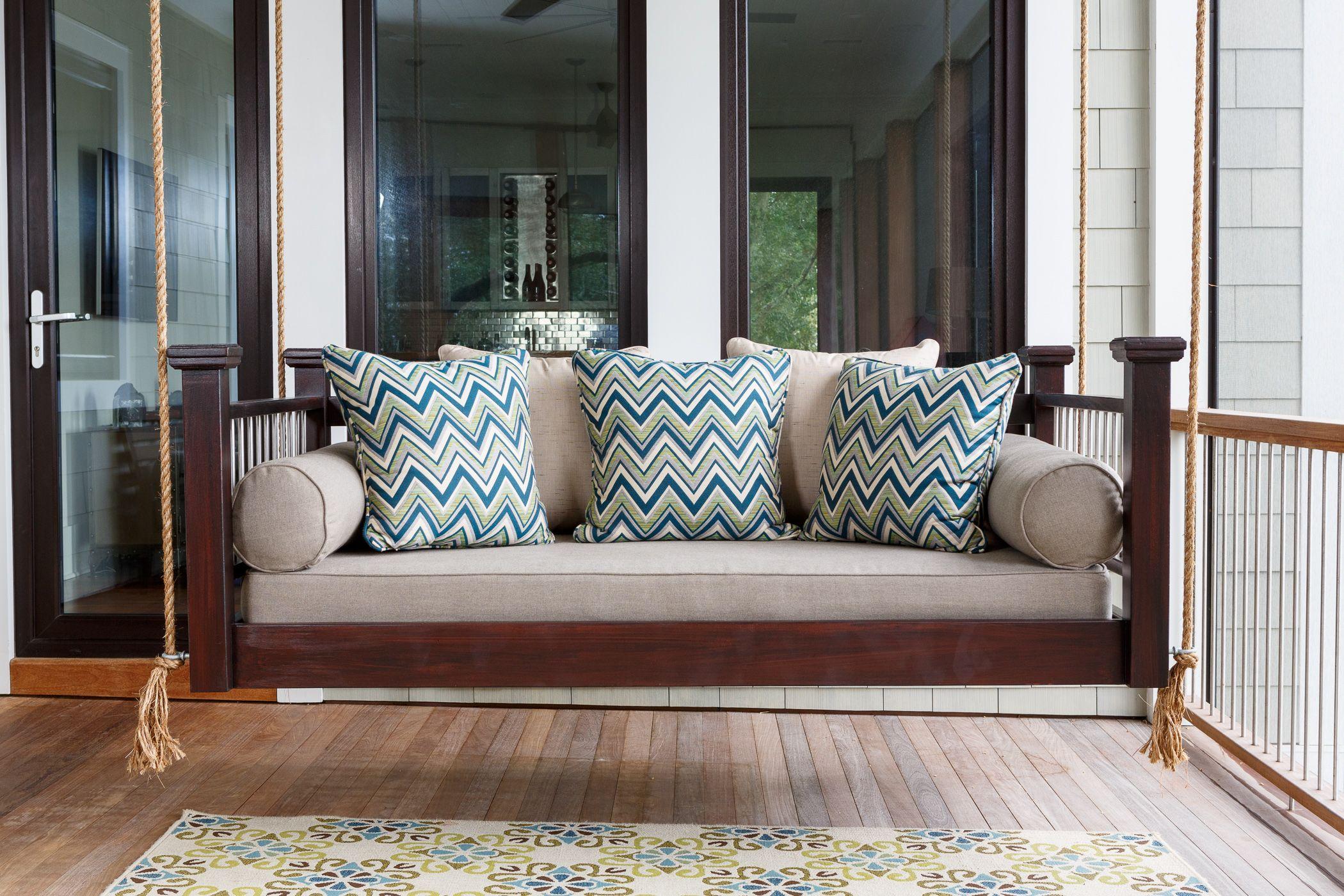 Best Modern Hanging Bed With Metal Spindles Custom Carolina 640 x 480