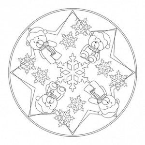 Winter Mandala Coloring Page Unicorn Coloring Pages Christmas Mandala Mandala Coloring Pages