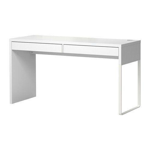 Ikea Micke Schreibtisch In Weiss 142x50cm Micke Schreibtisch