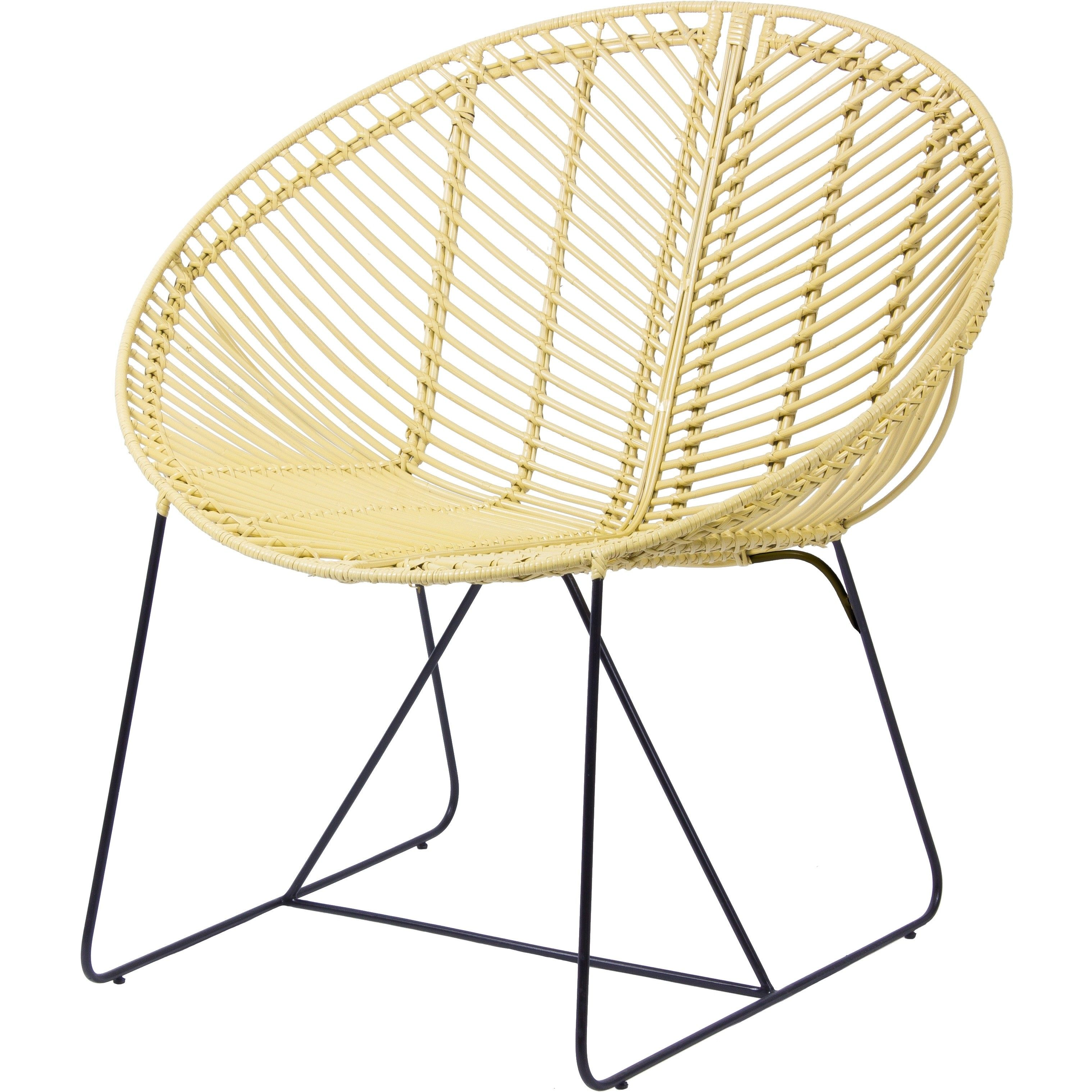Effortless Design Comes Naturally With This Round Rattan Chair We Love The Light Finish And Black Hairpin Inspire Rattan Chair Adirondack Chair Cushions Chair