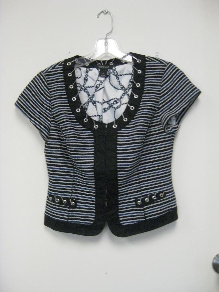 WHITE HOUSE BLACK MARKET navy black stripe jacket size 4 #WhiteHouseBlackMarket #Jacket