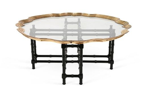 Baker Brass Glass Black Bamboo Table Bamboo Coffee Table Coffee