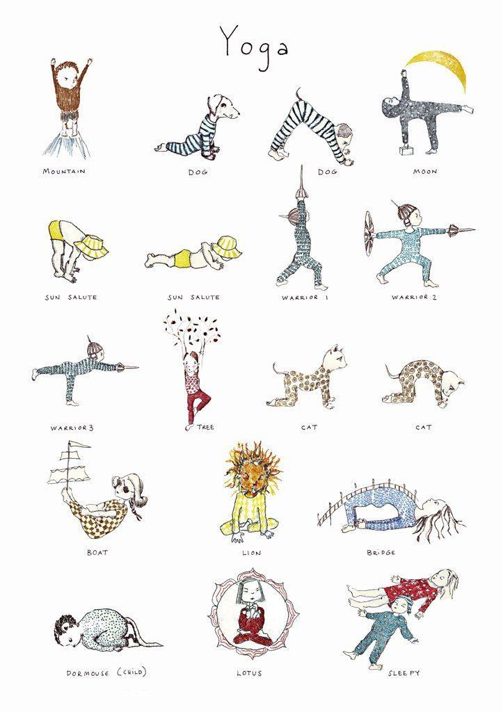 Poster Yoga Niños Posturas De Yoga Para Niños Yoga Para Niños Posturas De Yoga
