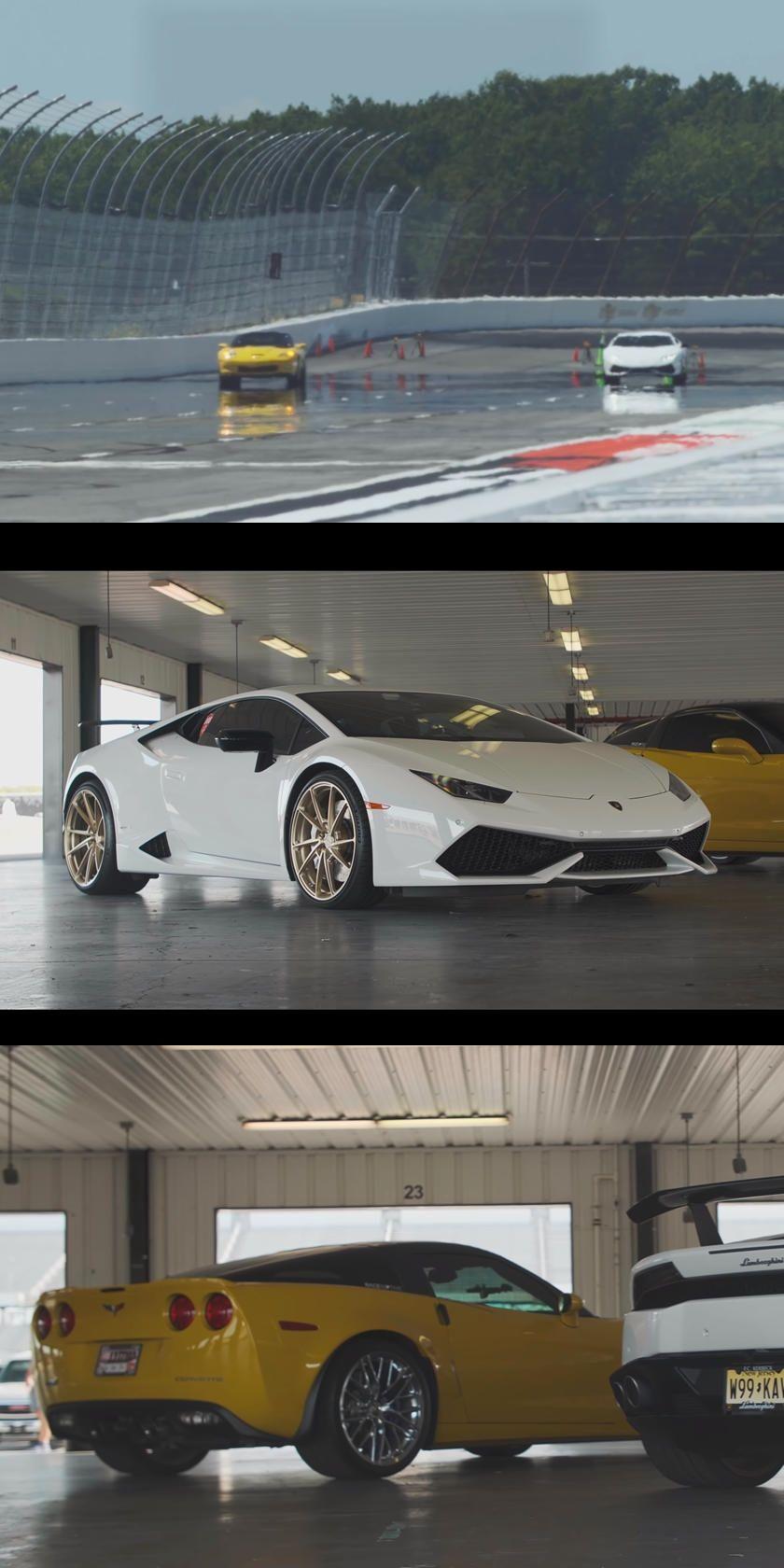 Drag Race Corvette ZR1 Vs. Huracan. Watch an
