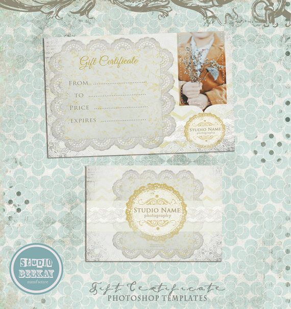 Gift Certificate Photo Card Template Photography by StudioBeeKay - photography gift certificate template