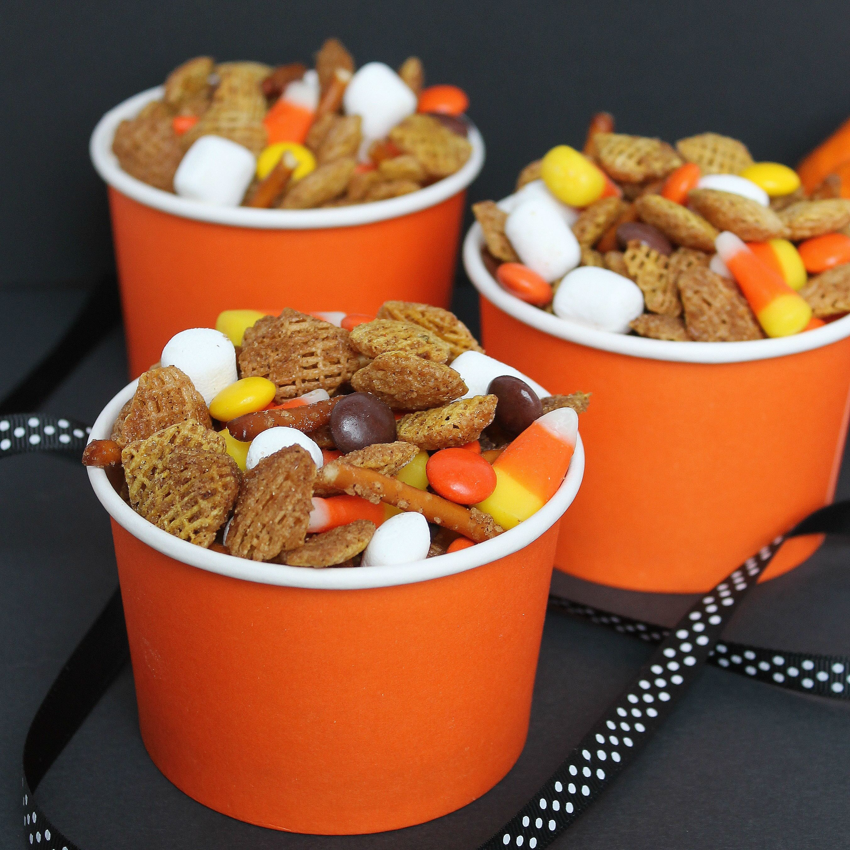 Fall snack mix 6 cups chex or crispix cereal 1 cup for 6 tablespoons butter