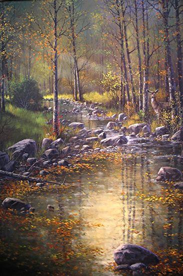 Morning Reflections by Joseph Yarnell Acrylic ~ 36 x 24