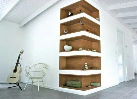 Escaliers étagères dangle idées de rangement stockage de mur décoration de maison popular bois design creative