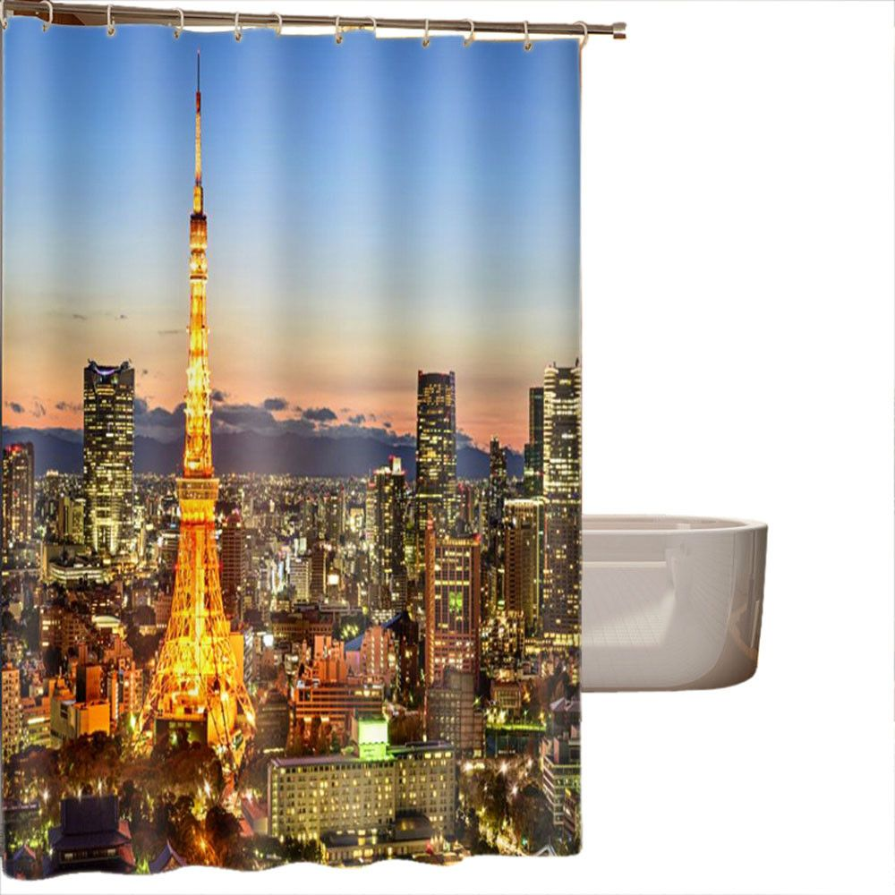 1 Pcs 150 180cm 16 Styles Landscape Printing Blackout Curtains Waterproof Personality Fabric Bathroom Shower Curtain Hot Sale Bathroom Shower Curtains Blackout Curtains Bathroom