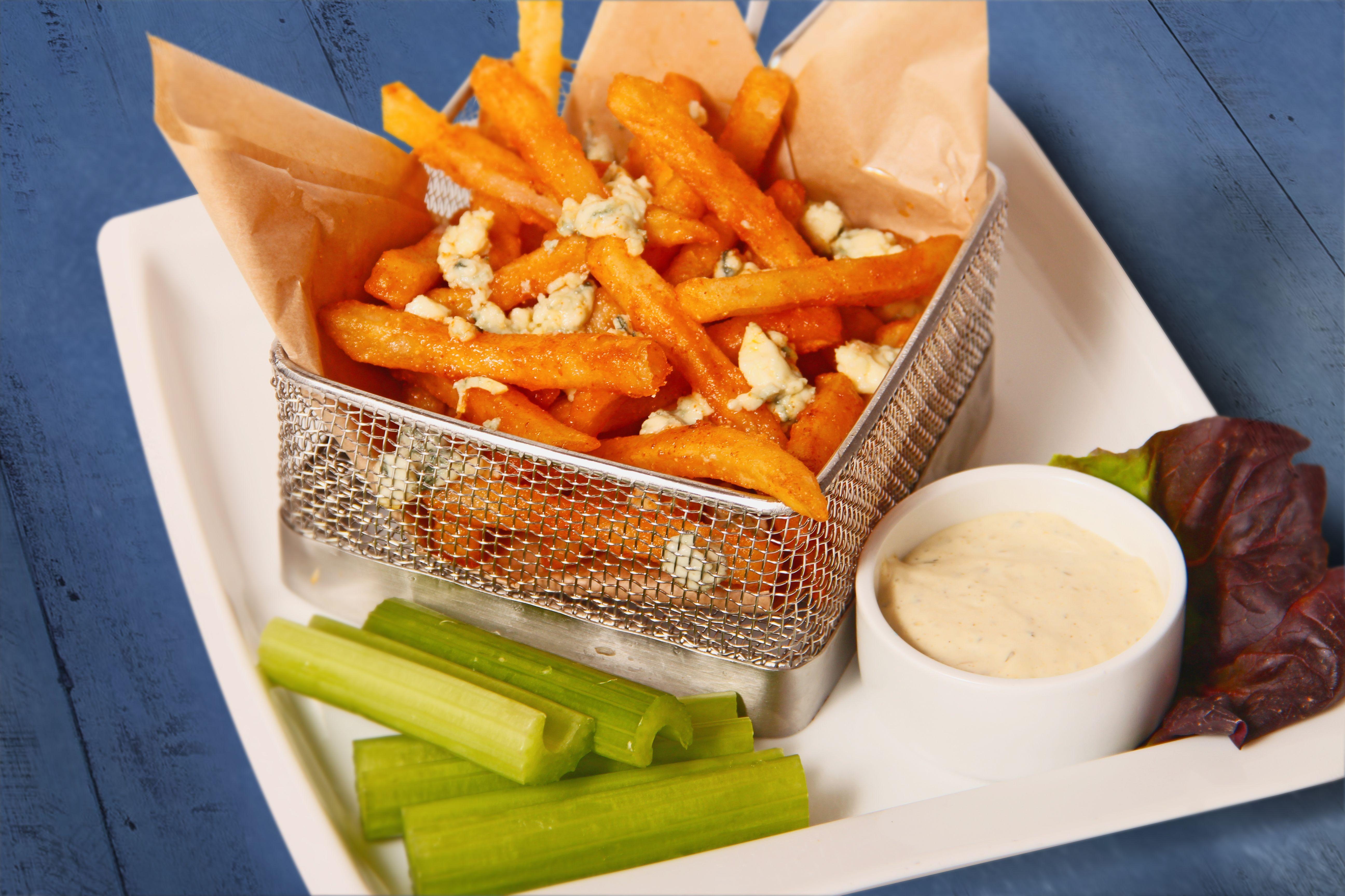 Buffalo Bleu Hot Fries Food, Fries, Hot