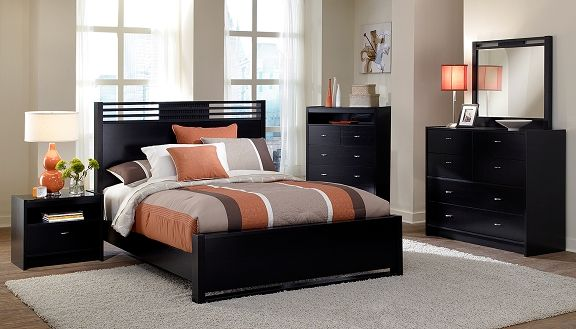 Bally Espresso Bedroom Collection - Value City Furniture-Queen Bed ...