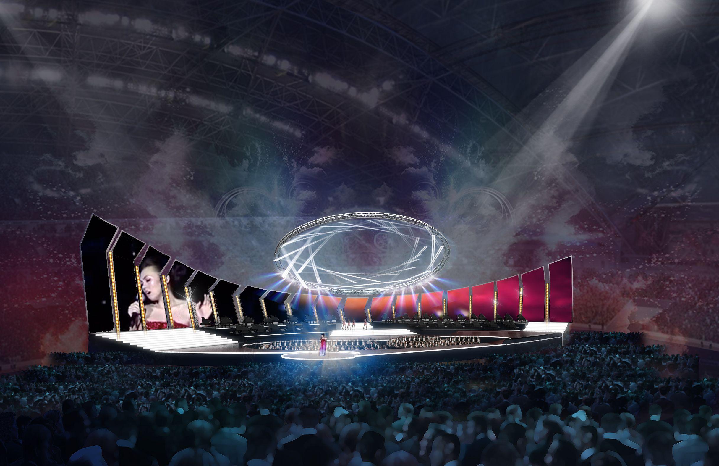 Concept For Stadium Concert Stage Design By Patrick Larsen