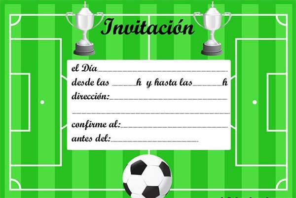 Invitaciones De Cumpleaños De Futbol Para Imprimir Gratis Invitaciones De Fútbol Invitacion Cumpleaños Niño Tarjetas De Cumpleaños Futbol