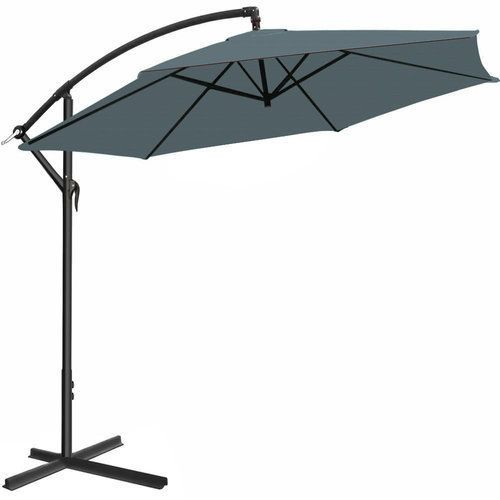 Garden Umbrella Parasol Stand Base Large Patio Sun Shade Banana Cantilever Grey Large Patio Umbrellas Patio Summer Patio Decor