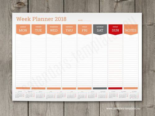 Best Printable Calendars Templates And Planners 2018