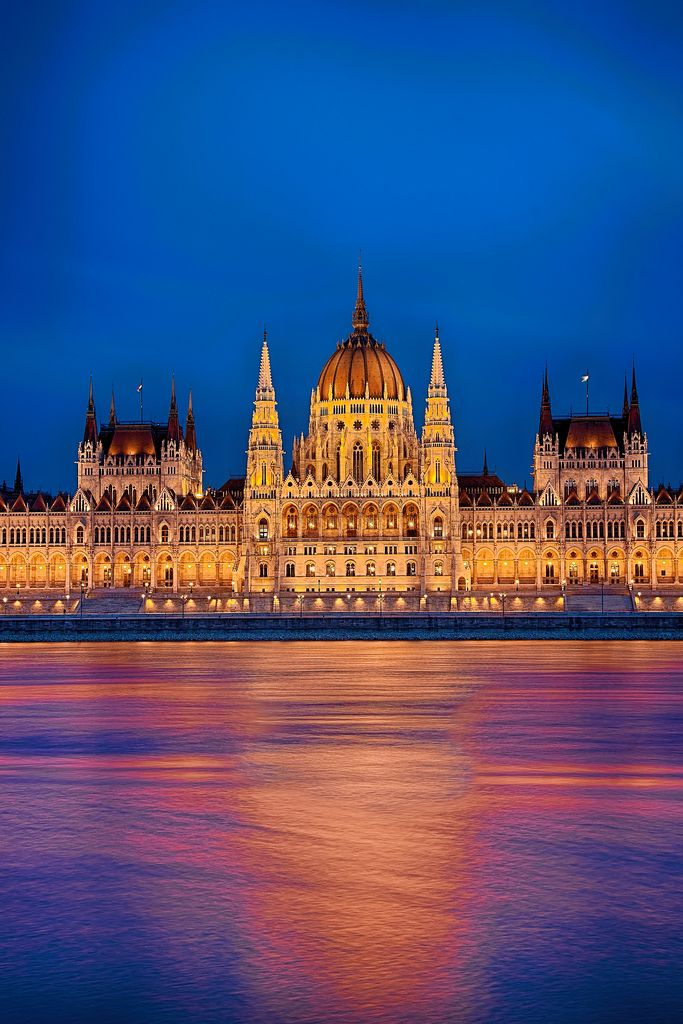 Hungary - Budapest - Hungarian Parliament Building At Sunset